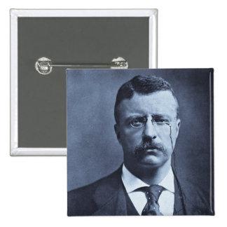 Teddy Roosevelt Vintage Glass Magic Lantern Slide 2 Inch Square Button