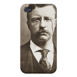 Teddy Roosevelt Vintage Glass Magic Lantern Slide iPhone 4 Cover
