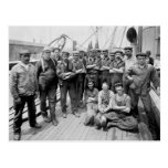 Teddy Roosevelt with Crew, early 1900s Postcards
