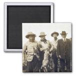 Teddy Roosevelt Wolf Hunting, 1905 Fridge Magnets