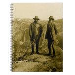 Teddy Roosevelt y John Muir en el punto del Libreta