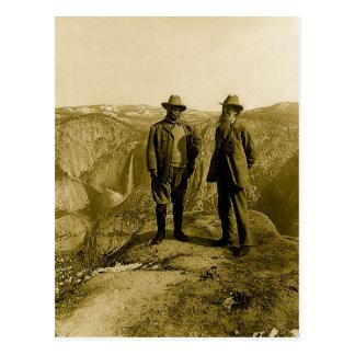 Teddy Roosevelt y John Muir en el punto del Tarjetas Postales