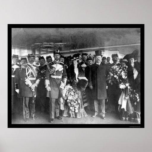 Teddy Roosevelt y príncipe Henry 1902 Poster