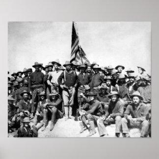 Teddy Roosevelt y Rough Riders Impresiones
