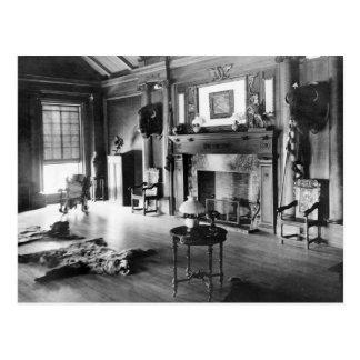 Teddy Roosevelt's Hunting Room, 1905 Postcard