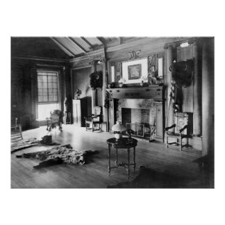 Teddy Roosevelt's Hunting Room, 1905 Print