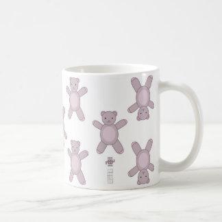 Teddy style classic white coffee mug