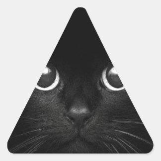 Teddy the Cat Triangle Sticker