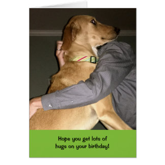 Teddy the Spaz Man Funny Birthday Card Hugs