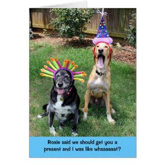 Teddy the Spaz Man Funny Birthday Card Present