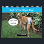 "Teddy the Spaz Man Funny Dog Calendar<br><div class=""desc"">Laugh along with Teddy and friends all year long with his funny wall calendar! Makes the perfect gift for the dog lover in your life.</div>"