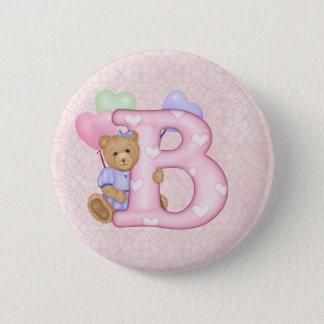 Teddy Tots Monogram B Button