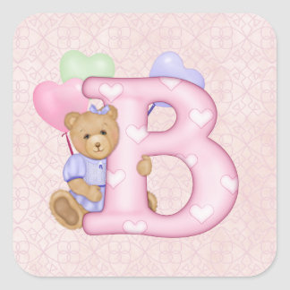 Teddy Tots Monogram B Sticker