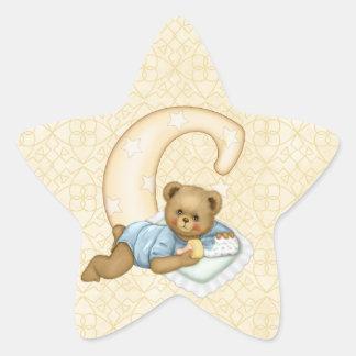 Teddy Tots Monogram C Star Stickers