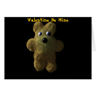 Teddy, Valentine Be Mine, Valentin... - Customized Card