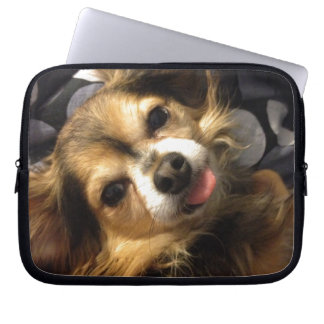 Teddy wants you to be happy! laptop sleeve