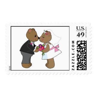 Teddy Wedding Postage