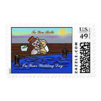 Teddy Wedding Stamps