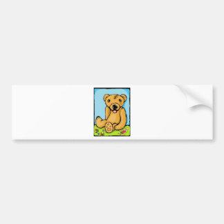 Teddy with a lobotomy bumper sticker