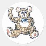 Teddy with Spotty Bow Tie Stickers