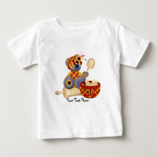 TeddyBear Cook (personalized) Baby T-Shirt