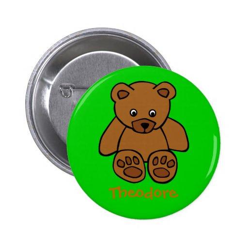Teddybear dulce pin redondo 5 cm