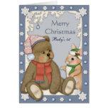 Teddybear - el primer navidad del bebé tarjeta de felicitación