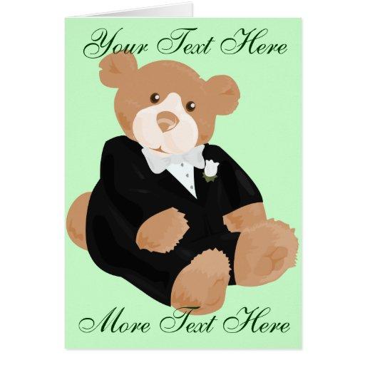 Teddybear Groom Card