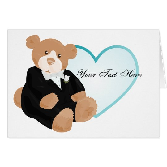 Teddybear Groom Card