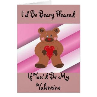 Teddybear Valentine Card