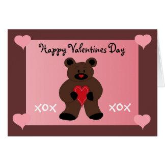Teddybear Valentine Greeting Cards