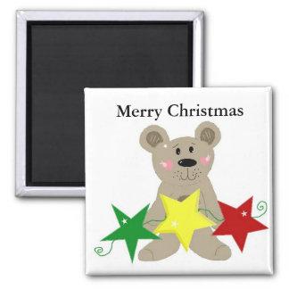 Teddybear with Holiday Stars Magnet