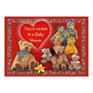 TeddyBears Baby Shower Card