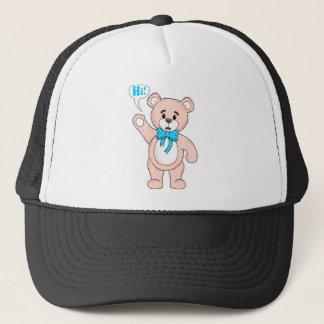 TeddyBearSayingHiPink.png Trucker Hat