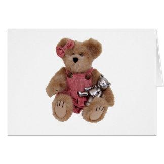 TeddyBearsHug100409 Tarjeta De Felicitación
