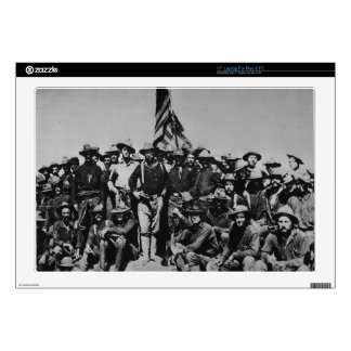 """Teddy's Colts Teddy Roosevelt Rough Riders 1898 17"""" Laptop Skin"""