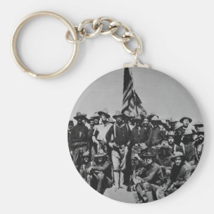 Teddy's Colts Teddy Roosevelt Rough Riders 1898 Keychain