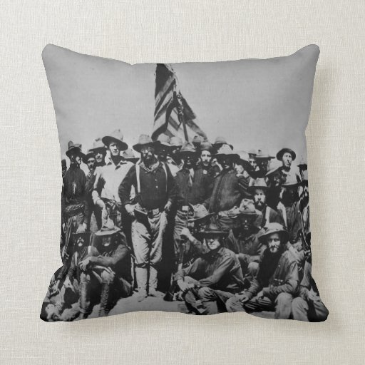 Teddy's Colts Teddy Roosevelt Rough Riders 1898 Throw Pillow