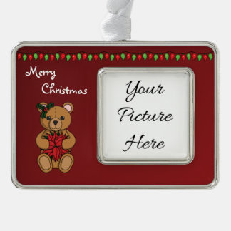 Teddy's Gift Frame Ornament Silver Plated Framed Ornament
