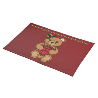 Teddy's Gift Placemat Cloth Place Mat