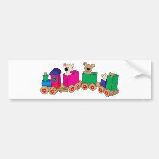 Teddy's Train Ride. Bumper Sticker