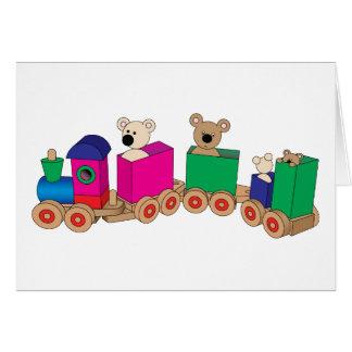 Teddy's Train Ride. Card