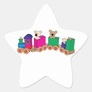 Teddy's Train Ride. Star Sticker