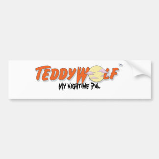 TeddyWolfLogo, mi nightime PAL Pegatina Para Auto
