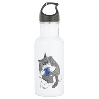 Ted's Blue Yarn Play Water Bottle