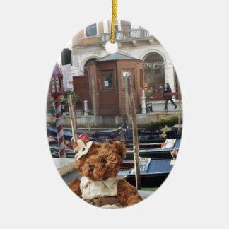 Teds in Venice Ceramic Ornament