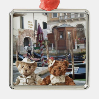 Teds in Venice Metal Ornament
