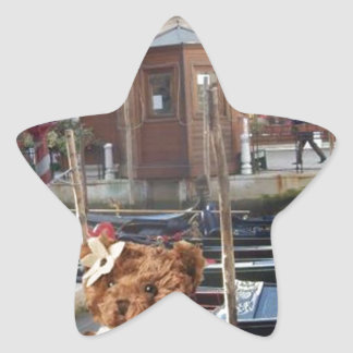 Teds in Venice Star Sticker