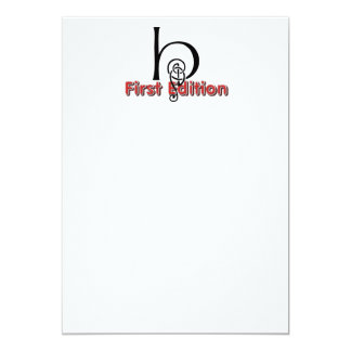 TEE 1 First Edition 5x7 Paper Invitation Card