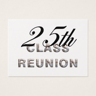 TEE 25th Class Reunion Business Card